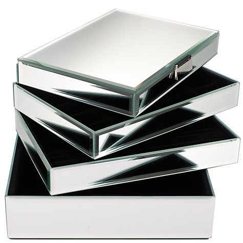 Buy stackers glass jewellery boxes john lewis for Stackers jewelry box canada