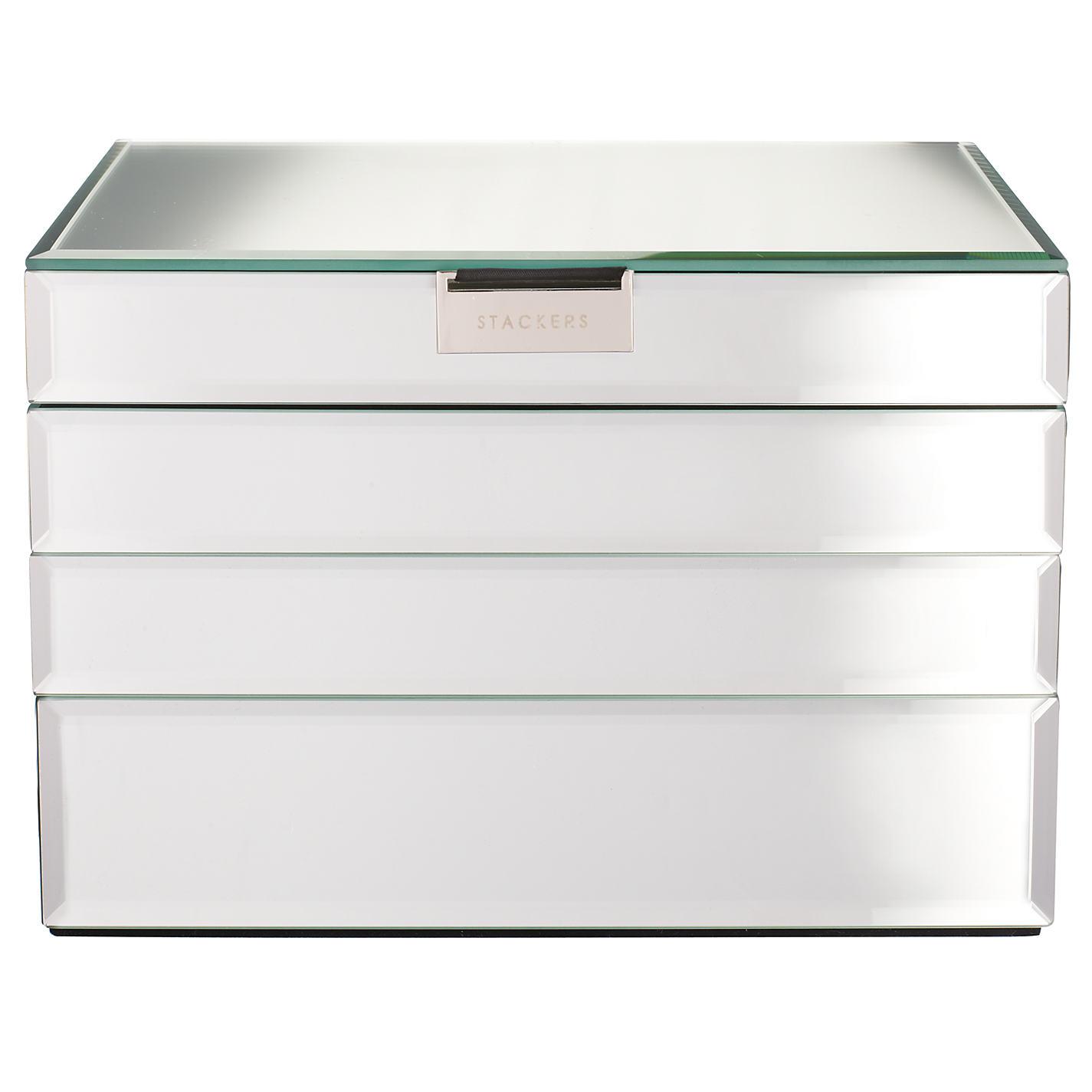 Stackers Gl Jewellery Bo John Lewis Large Mirrored Jewelry Box 3 Drawer Extra