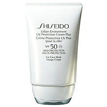 Buy Shiseido Urban Environment UV Protection Cream Plus SPF 50, 50ml Online at johnlewis.com