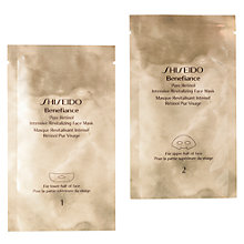 Buy Shiseido Benefiance Pure Retinol Intensive Revitalizing Face Mask x 4 Online at johnlewis.com