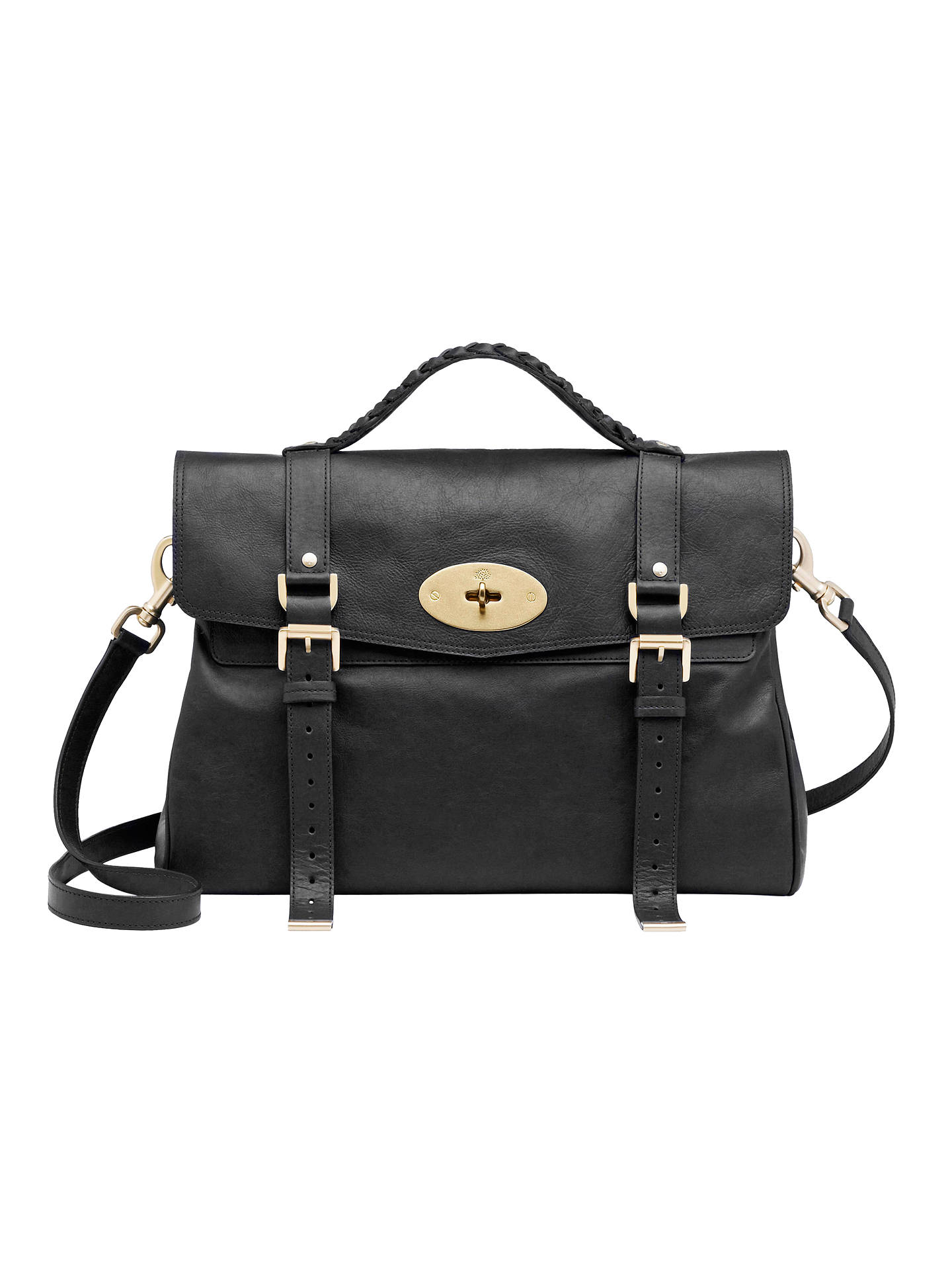 ... australia buymulberry oversized alexa messenger shoulder handbag black  online at johnlewis 3cc80 b2d91 2b7bade800f25