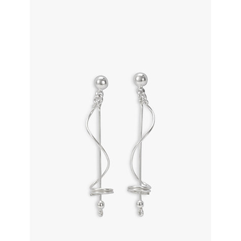 Buy Andea Silver Abstract Wire Bar Earrings Online at johnlewis.com