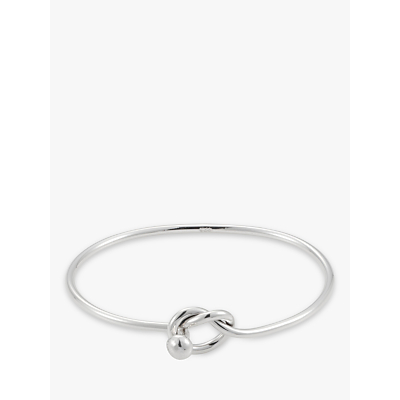 Andea Lovers Knot Silver Bangle