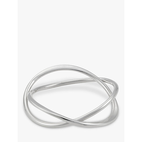 Buy Andea Silver Abstract Twisted Bangle Online at johnlewis.com