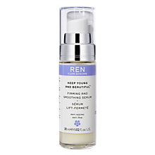 Buy REN Keep Young and Beautiful™ Firming and Smoothing Serum, 30ml Online at johnlewis.com