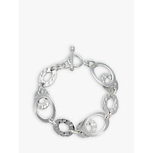 Buy Andea Silver Hammered Oval Link Bracelet Online at johnlewis.com