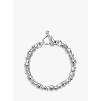 Andea Silver Slinky Ring and Ball Bracelet