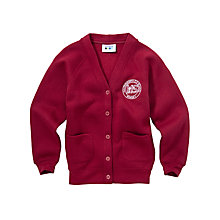 Buy Halterworth Primary School Girls' V-Neck Cardigan, Maroon Online at johnlewis.com