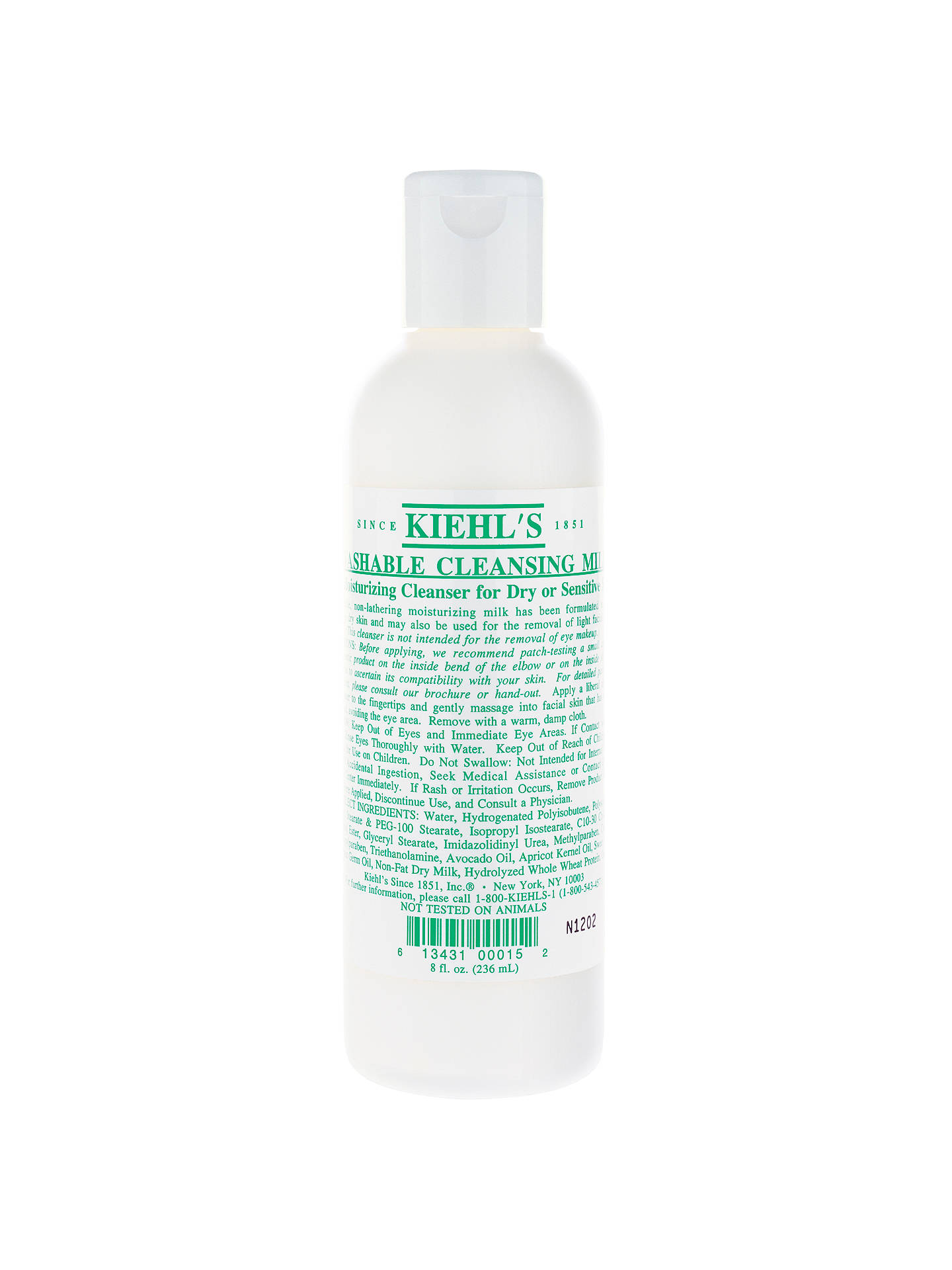 Buy Kiehl's Washable Cleansing Milk, 250ml Online at johnlewis.com