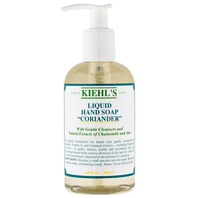 Product photo of Kiehl s coriander hand cleanser pump 200ml