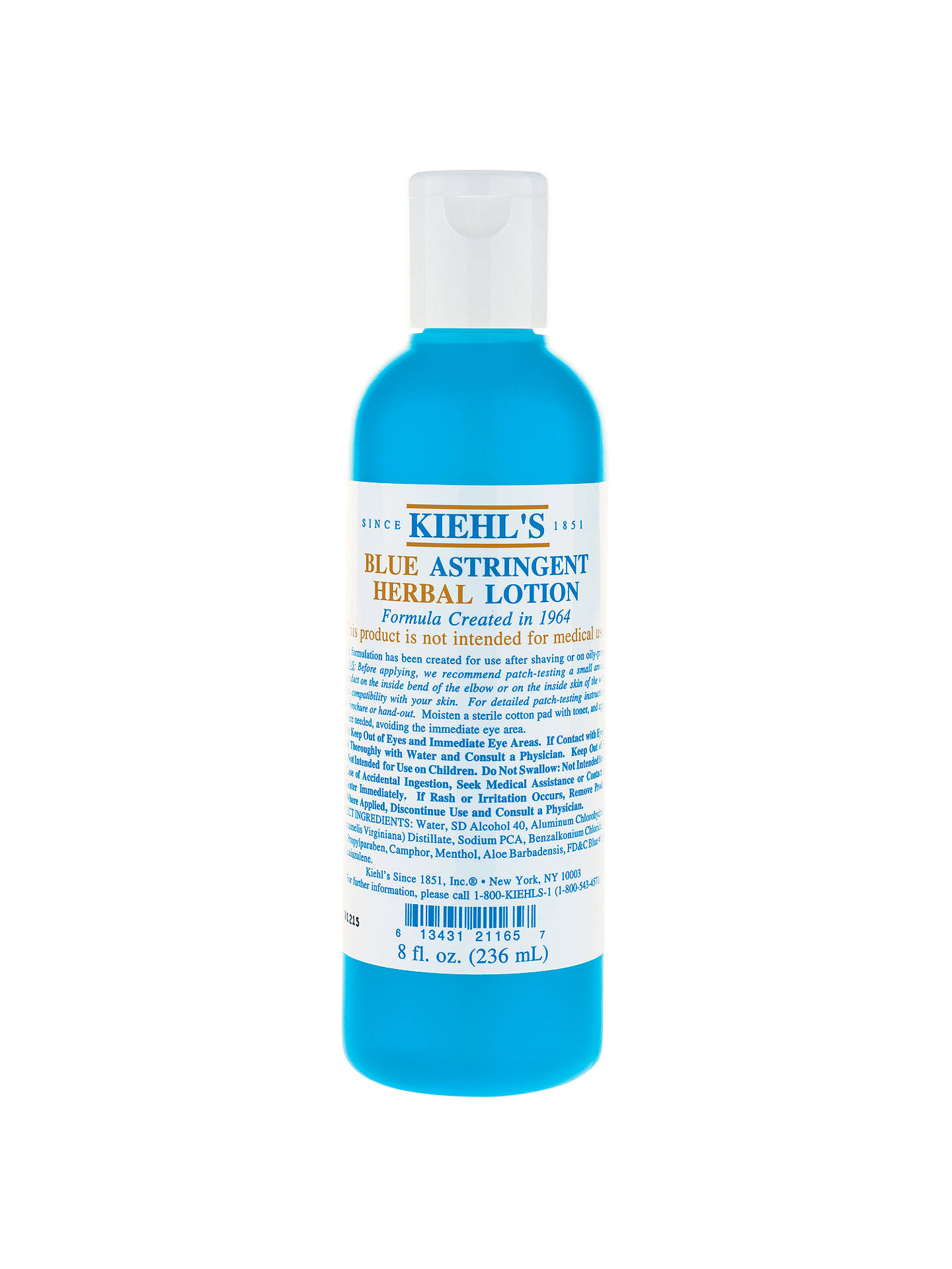 BuyKiehl's Blue Astringent Herbal Lotion, 250ml Online at johnlewis.com