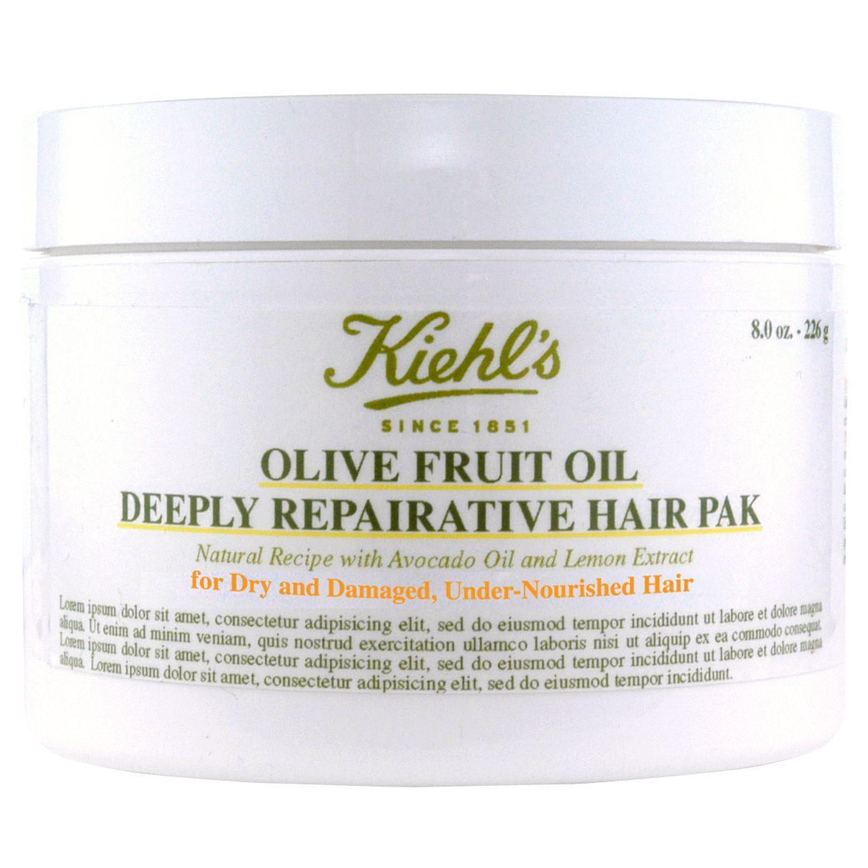Kiehls Kiehl's Olive Fruit Oil Deep Repairing Masque, 250ml