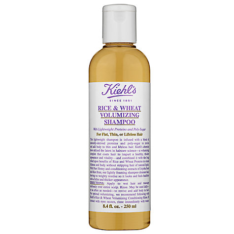 Buy Kiehl's Rice and Wheat Volumising Shampoo, 250ml Online at johnlewis.com