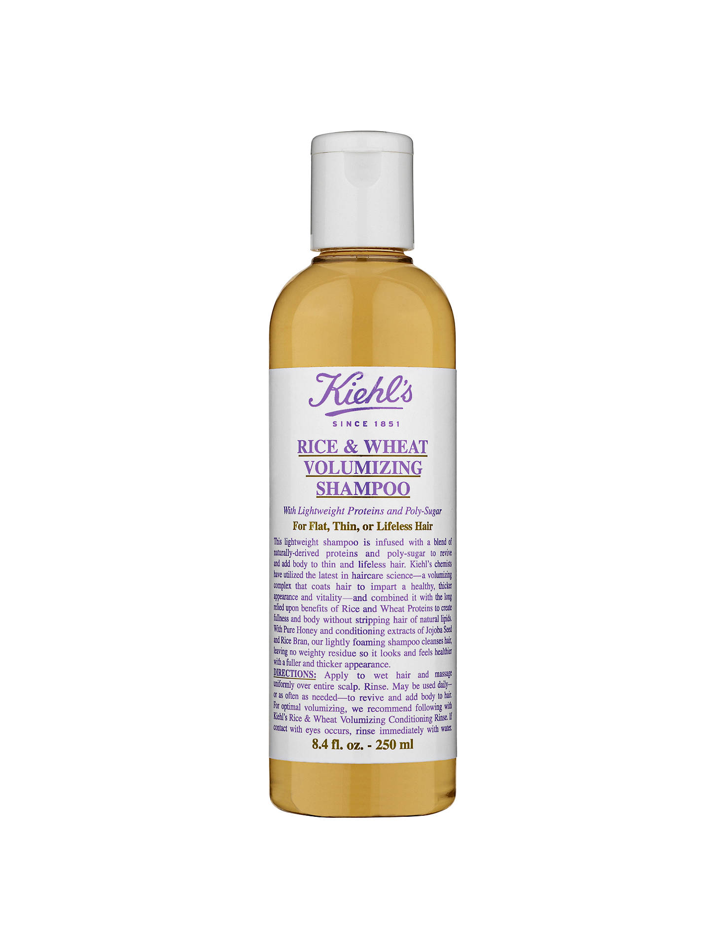 BuyKiehl's Rice and Wheat Volumising Shampoo, 250ml Online at johnlewis.com