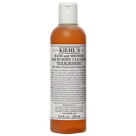 Buy Kiehl's Pour Homme Bath and Shower Liquid Body Cleanser, 250ml Online at johnlewis.com