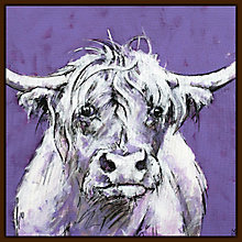 Buy Bull On Purple Print Online at johnlewis.com