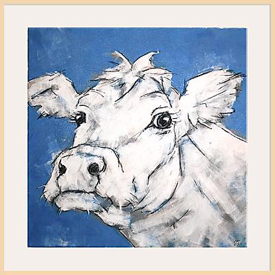 Nicola King – Cow On Blue
