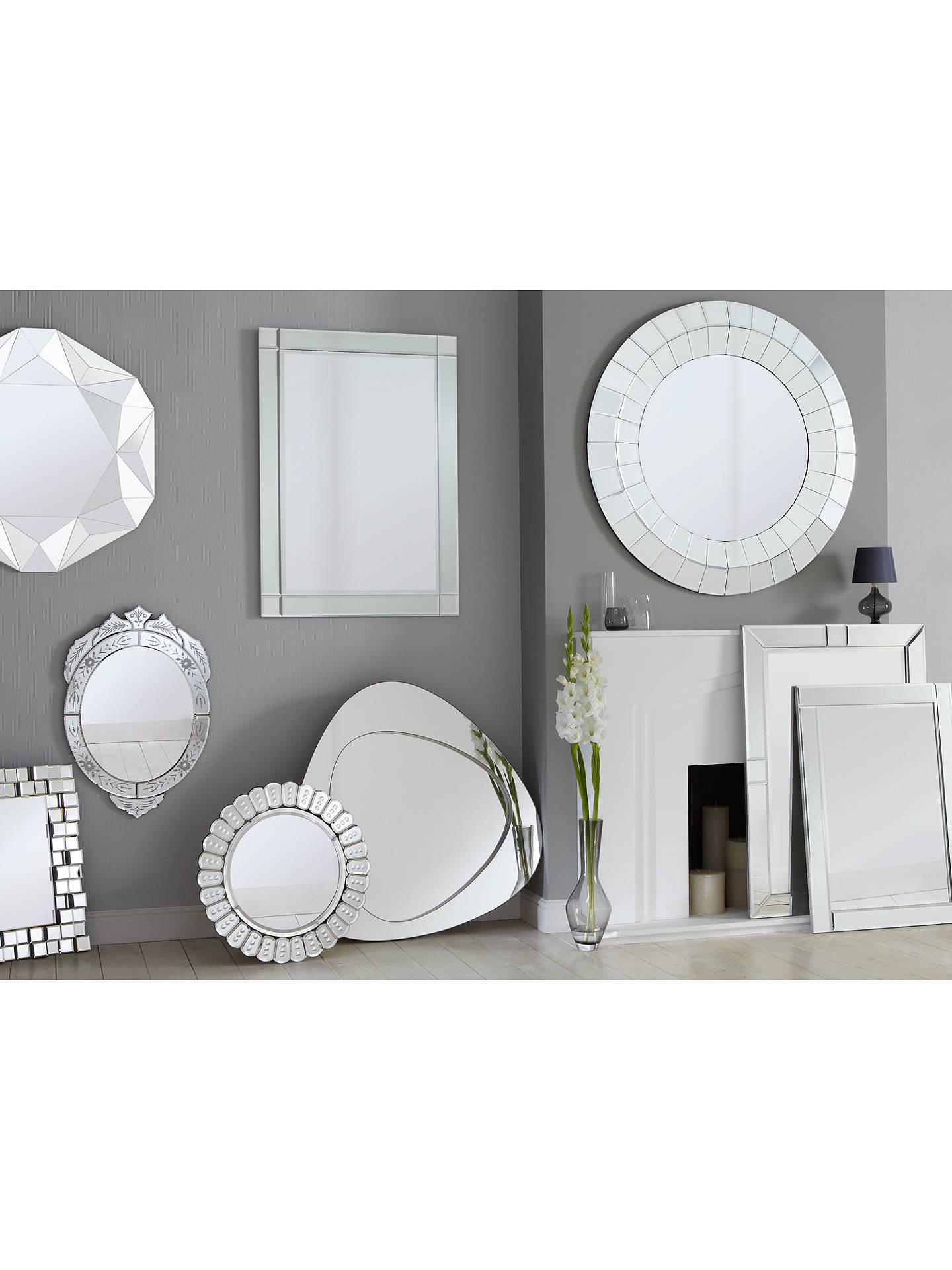 Buy John Lewis & Partners Taylor Mirror, 90 x 65cm Online at johnlewis.com