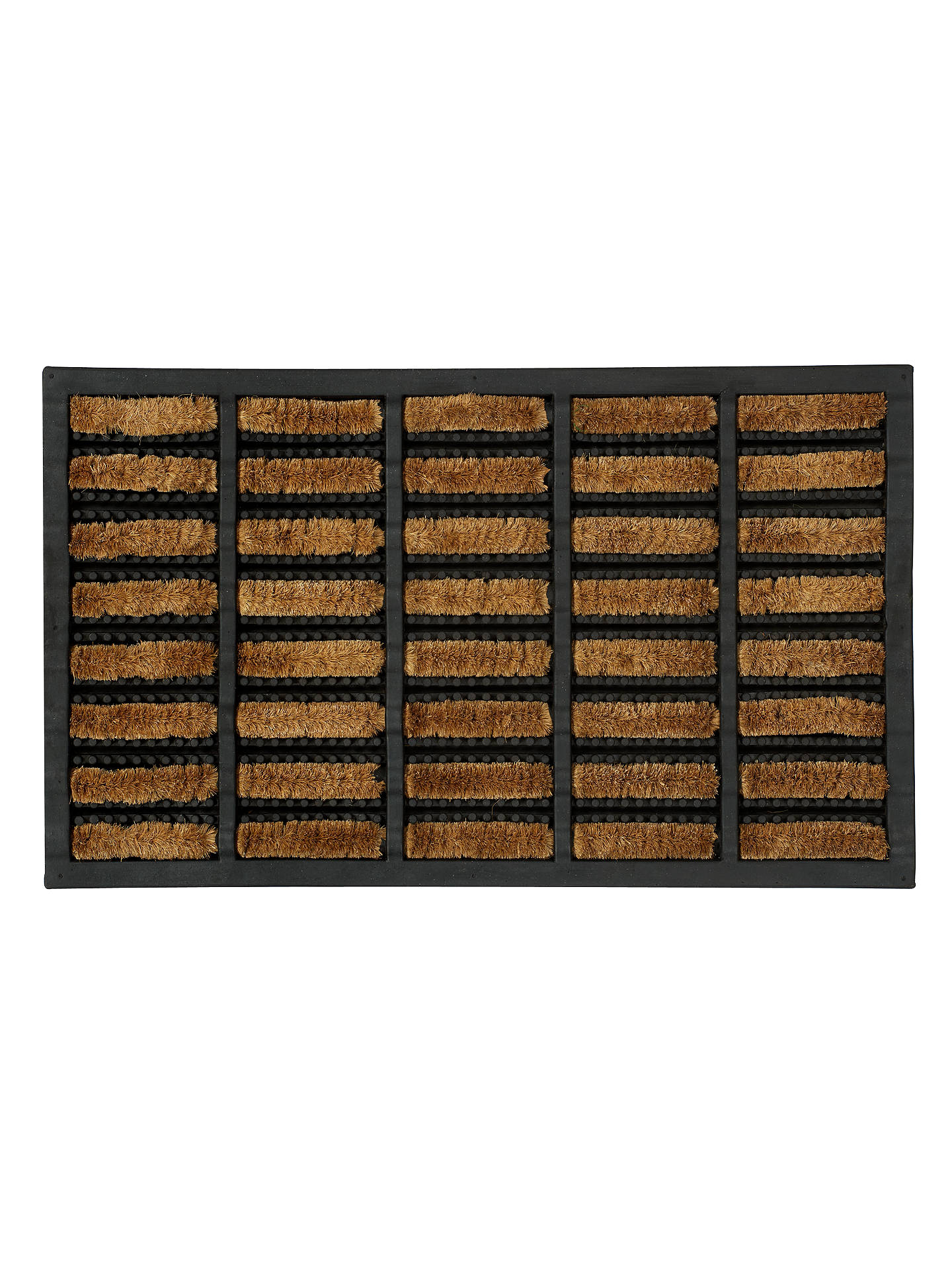 Buy John Lewis & Partners Rubber and Coir Scraper Door Mat, Brown, L75 x W45cm Online at johnlewis.com