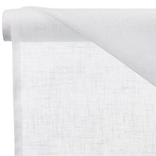 Buy John Lewis Metro Unheaded Voile Fabric, White, Drop 150cm Online at johnlewis.com