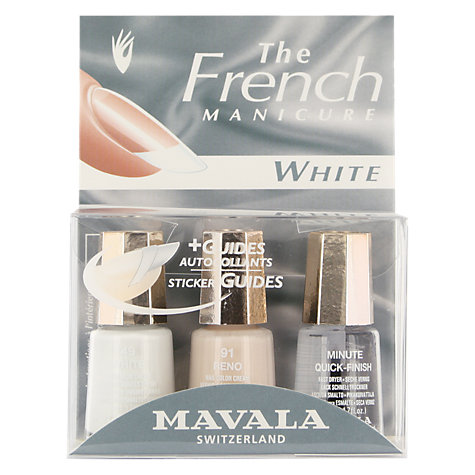 Buy MAVALA French Manicure White Set Online at johnlewis.com