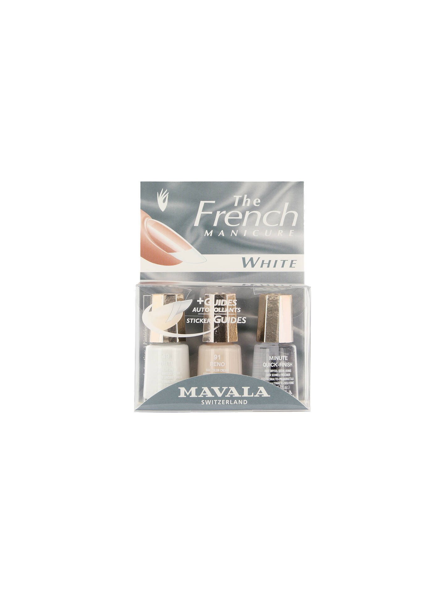 BuyMAVALA French Manicure White Set Online at johnlewis.com