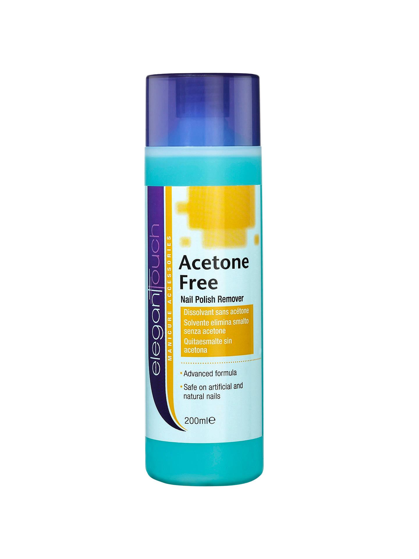 Elegant Touch Acetone-Free Nail Polish Remover, 200ml at John Lewis ...