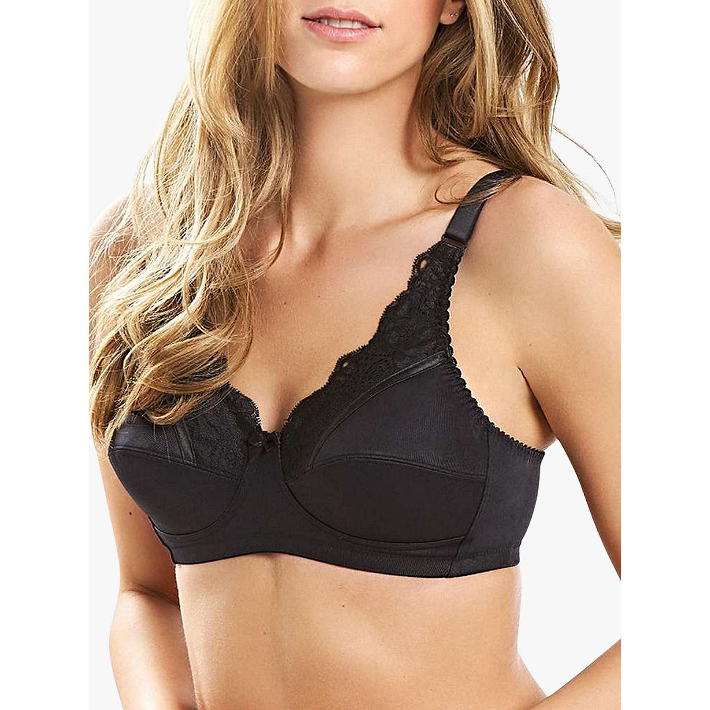 BuyRoyce Jasmine 423P Caress Bra, Black, 34B Online at johnlewis.com