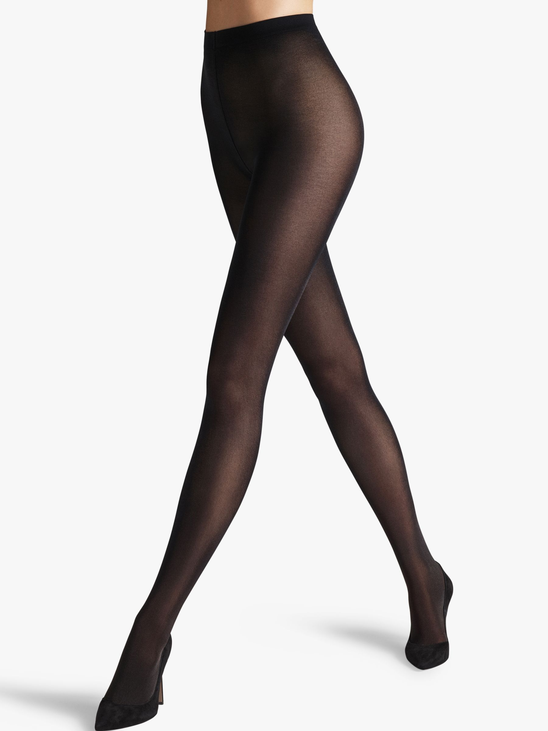 Wolford Wolford Satin Opaque 50 Denier Tights, Black