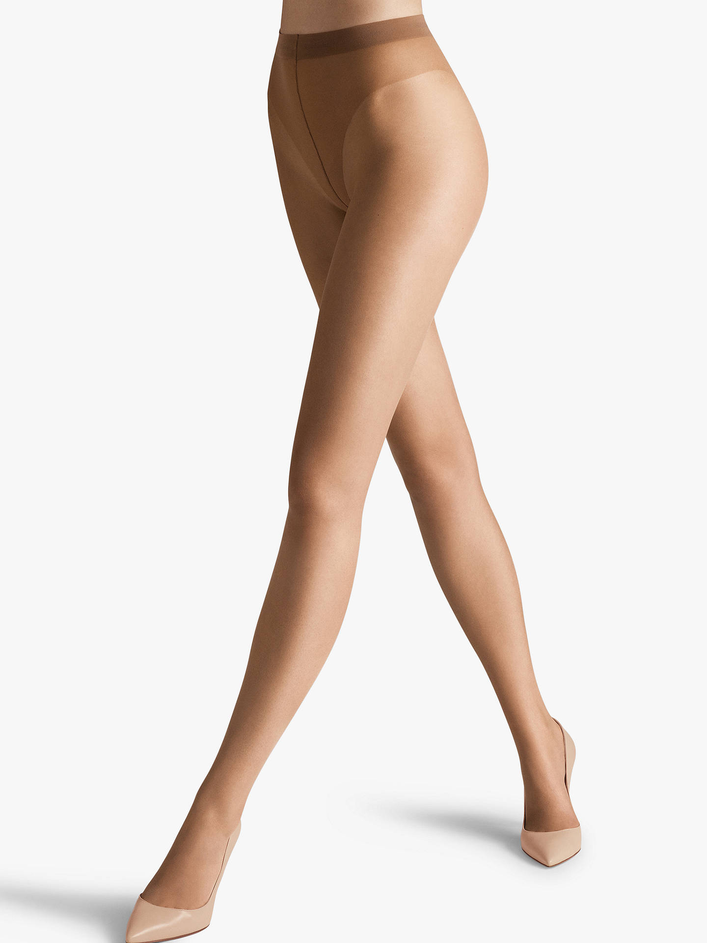 Buy Wolford Luxe 9 Denier Tights, Caramel, L Online at johnlewis.com