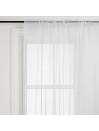John Lewis & Partners The Basics Plain Slot Top Voile Panel, White