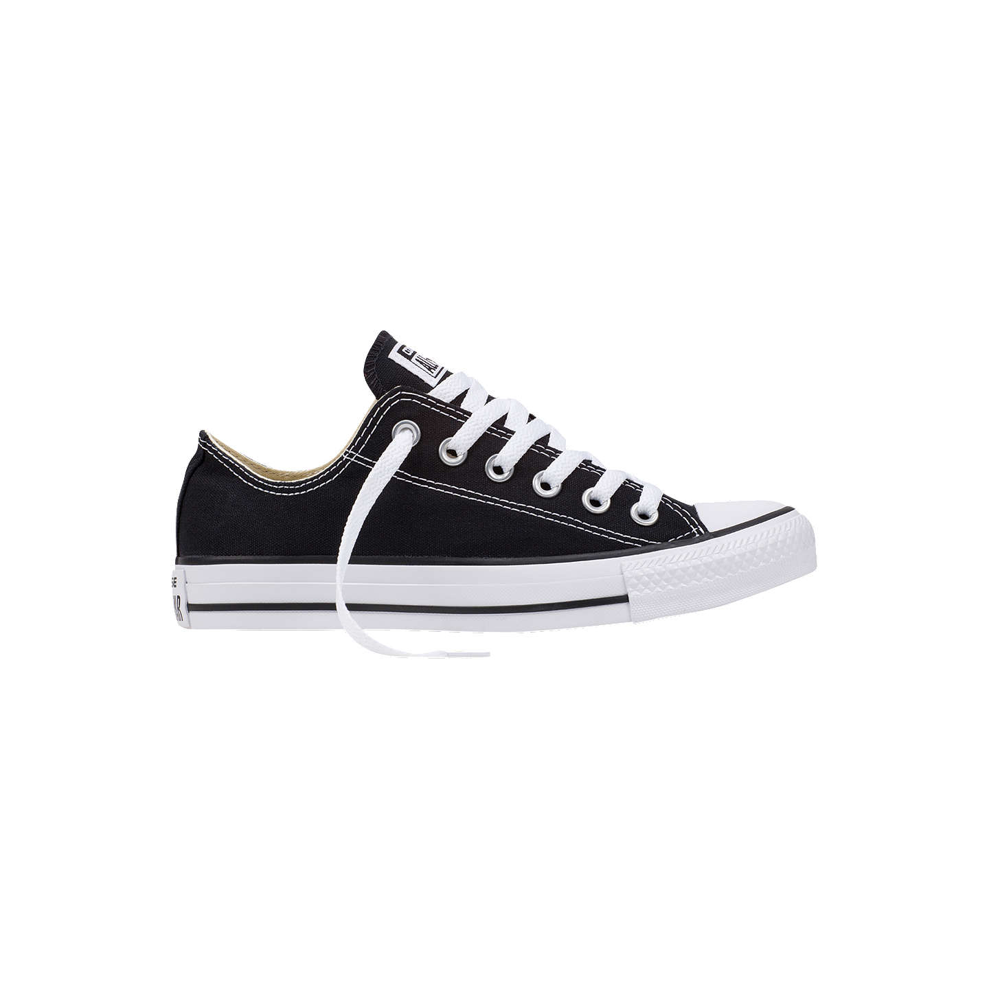 BuyConverse Chuck Taylor All Star Ox Trainers, Black, 9 Online at johnlewis.com