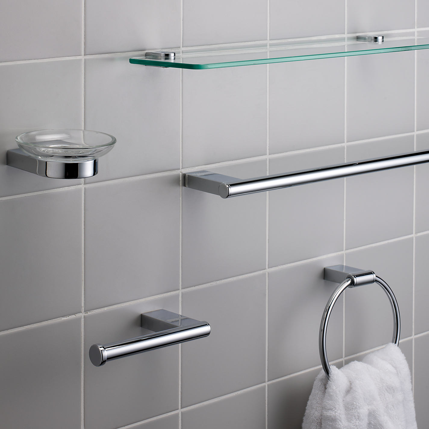 Glass shelving bathroom -  Buy John Lewis Opus Glass Shelf Online At Johnlewis Com