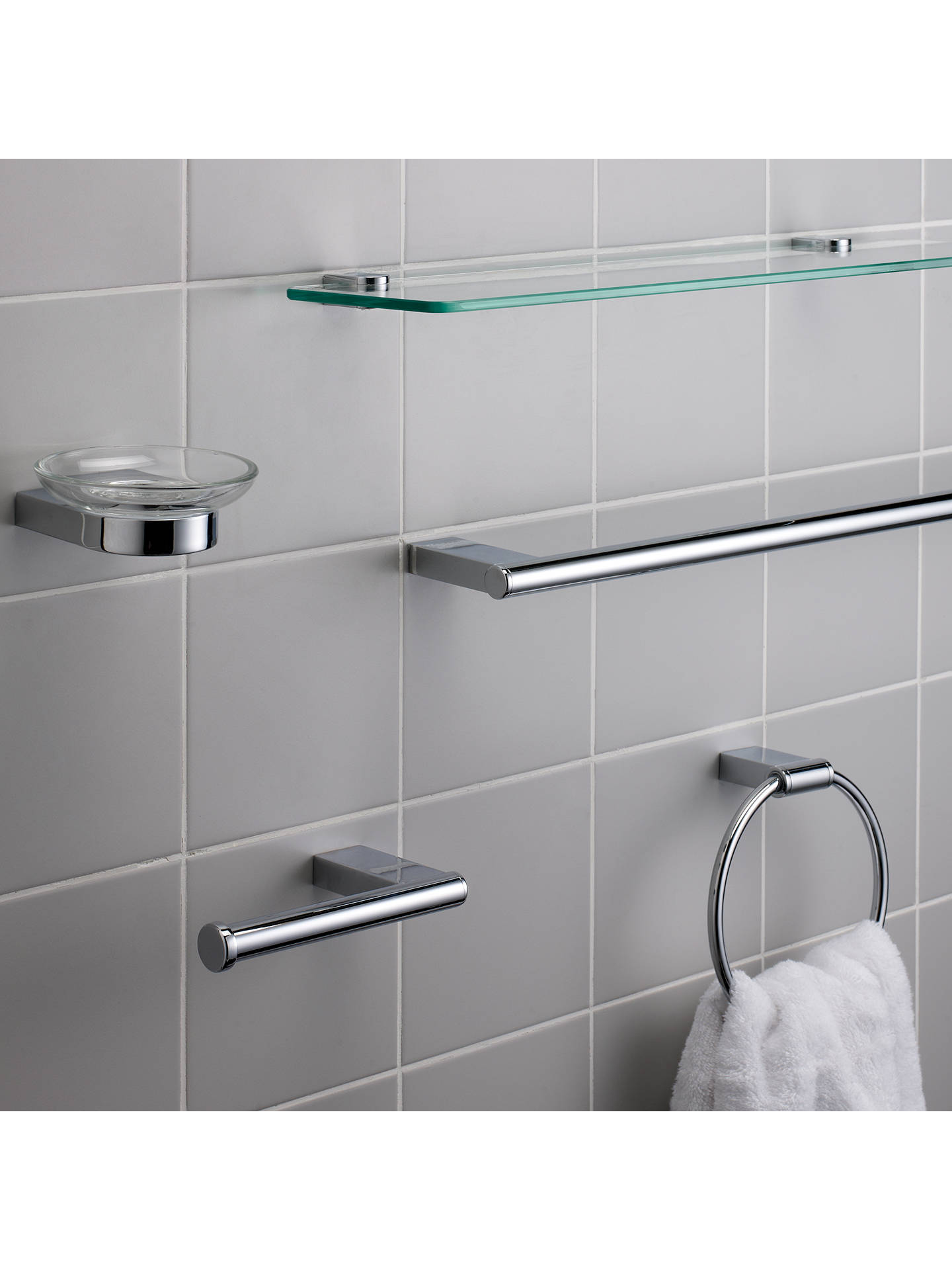Buy John Lewis & Partners Opus Toilet Roll Holder, Chrome Online at johnlewis.com