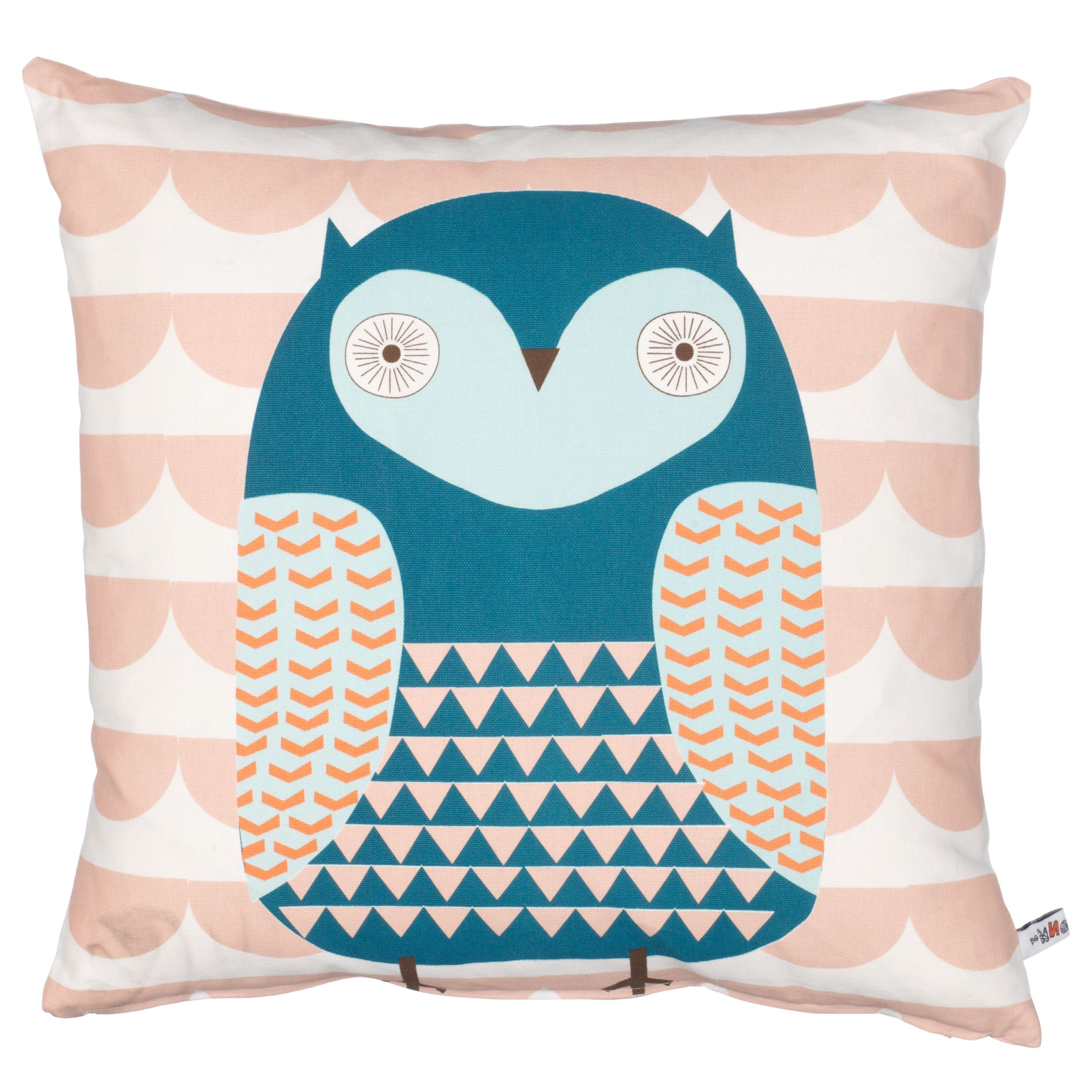 Donna Wilson Printed Owl Cushion, Coral