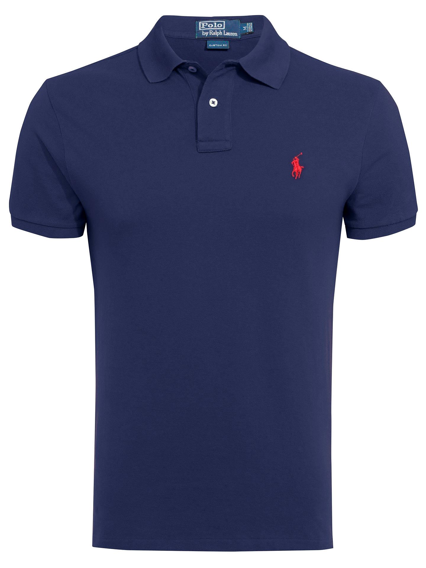 9a1e3a19c0208 Polo Ralph Lauren Custom Fit Short Sleeve Polo Shirt at John Lewis ...