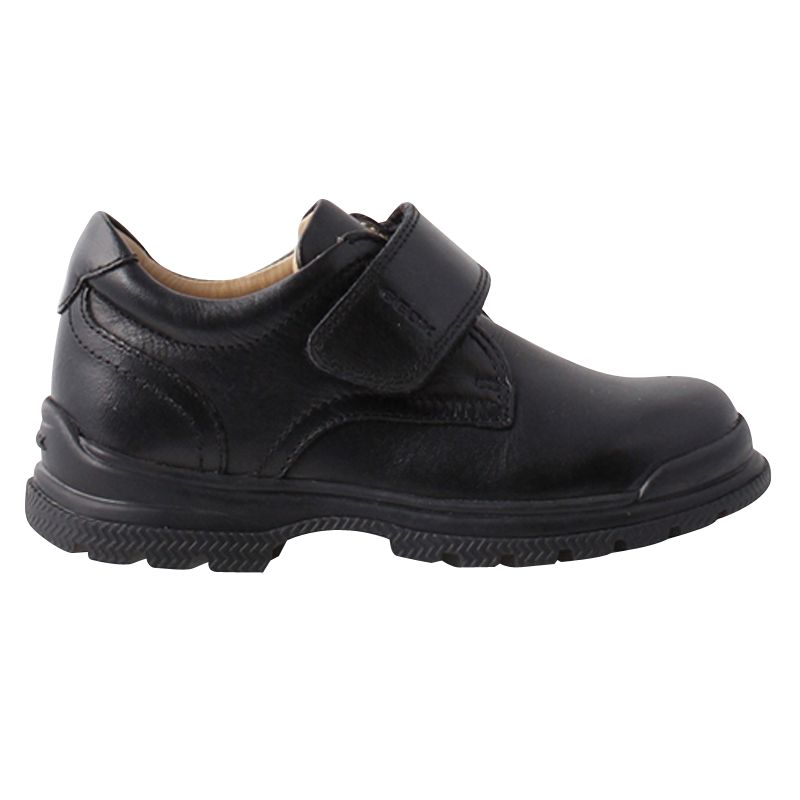 Valle espada Efectivamente  Geox William School Shoes, Black at John Lewis & Partners