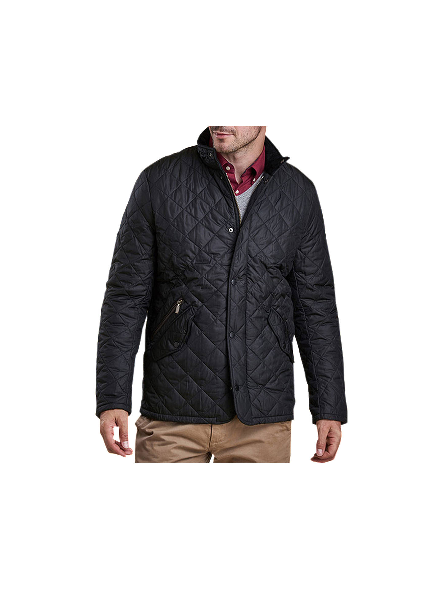 BuyBarbour Chelsea Sportsquilt Water-Resistant Quilted Jacket, Black, S Online at johnlewis.com