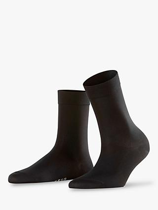 FALKE Cotton Touch Ankle Socks, Black