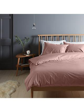 John Lewis & Partners Crisp and Fresh 200 Thread Count Egyptian Cotton Bedding, Pink