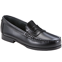 Buy Start-rite Penny Leather Loafer Shoes, Black Online at johnlewis.com