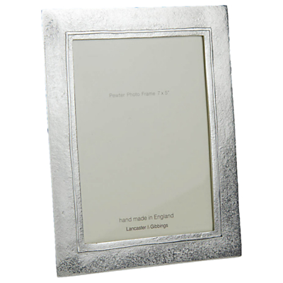 Lancaster and Gibbings Raised Line Pewter Photo Frame