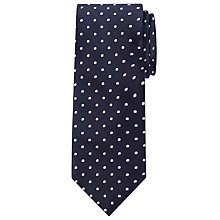 Buy John Lewis Spotted Silk Tie, Navy/White Online at johnlewis.com
