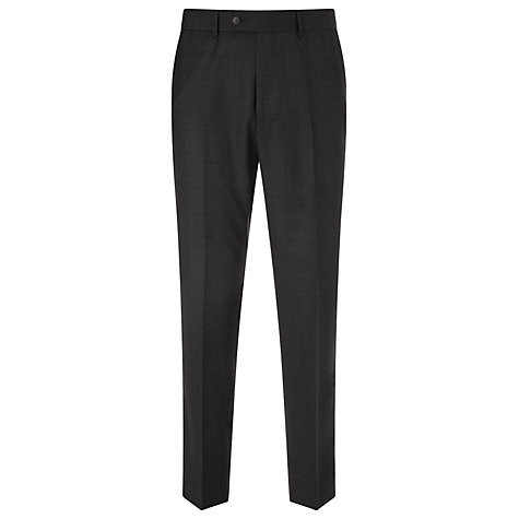 Buy John Lewis Regular Fit Sharkskin Suit Trousers, Charcoal Online at johnlewis.com