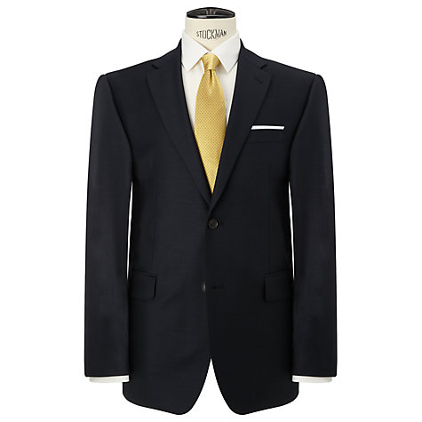 Buy John Lewis Regular Fit Sharkskin Suit Trousers, Navy Online at johnlewis.com