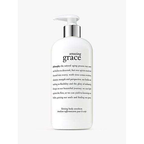 Buy Philosophy Amazing Grace Firming Body Emulsion, 480ml Online at johnlewis.com