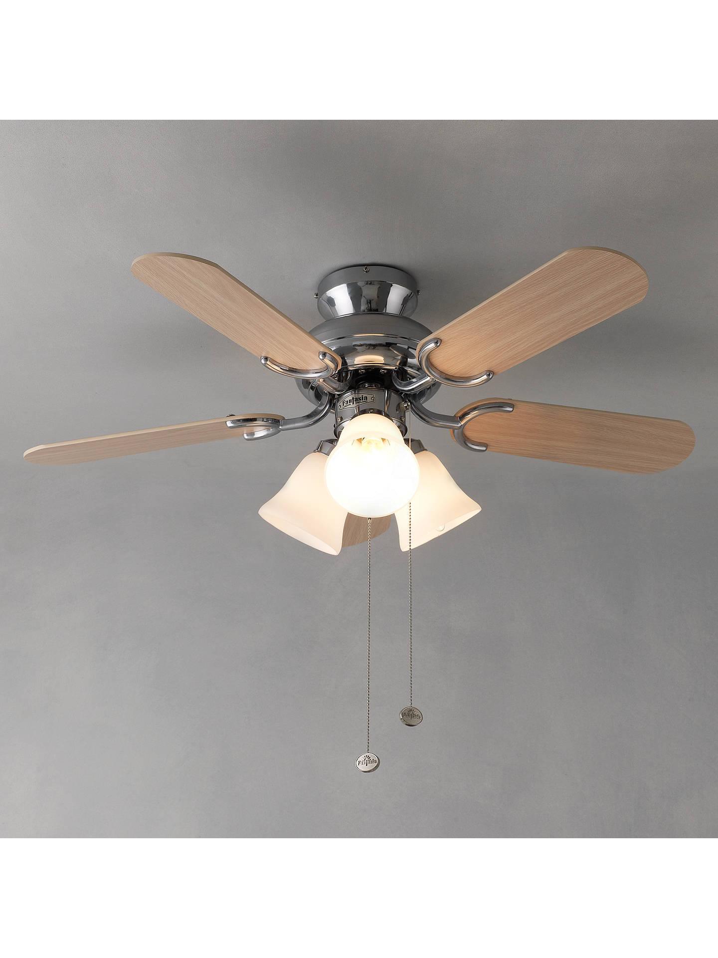 fantasia capri ceiling fan and light oak at john lewis. Black Bedroom Furniture Sets. Home Design Ideas