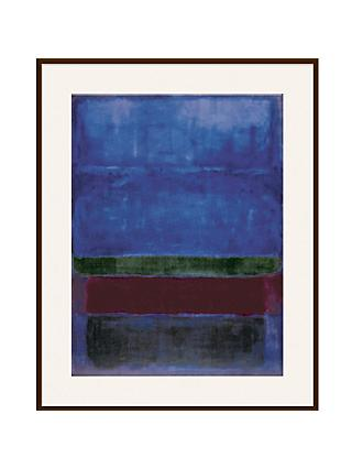 Rothko - Blue, Green and Brown Ash Wood Framed Print, 80 x 60cm