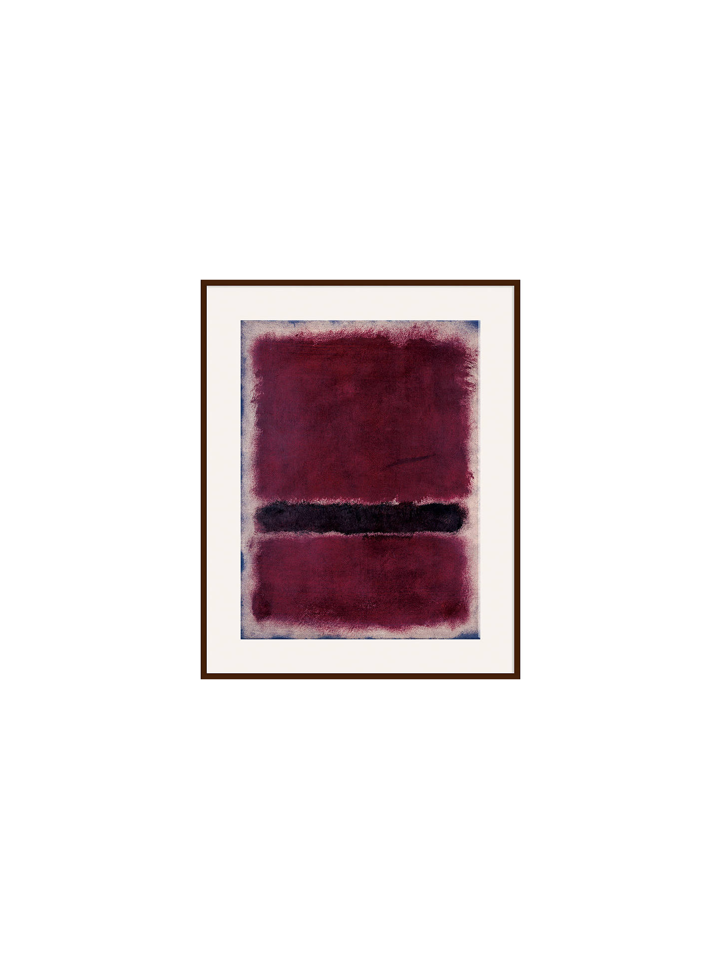 Buy Rothko - Untitled 1963 Ash Wood Framed, 80 x 60cm, Dark Brown Framed Print Online at johnlewis.com