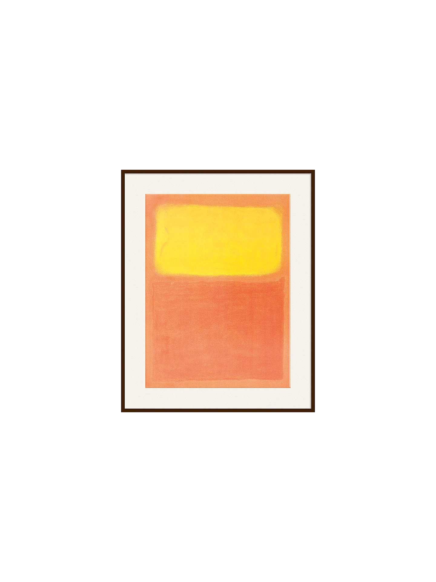 Buy Rothko - Orange and Yellow Ash Wood Framed Print, 80 x 60cm, Dark Brown Framed Print Online at johnlewis.com